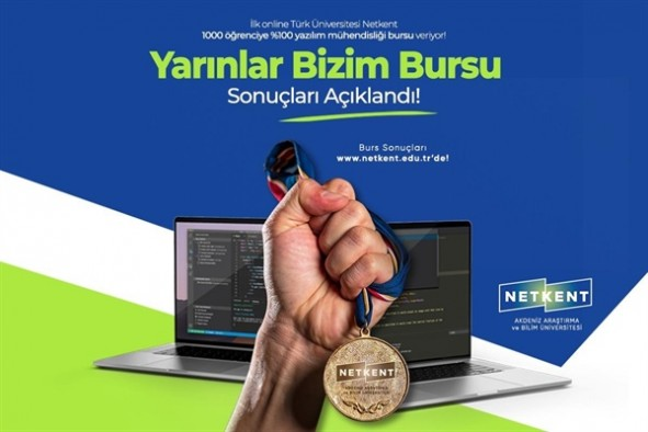 Netkent Üniversitesi'nden Yazılım Mühendisliği Bursu kazanan ilk 100 öğrenci belli oldu