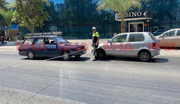 Gazimağusa'da kaza: 1 ağır yaralı