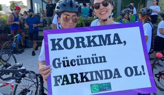 Green Pedal, kadına şiddete dikkat çekti