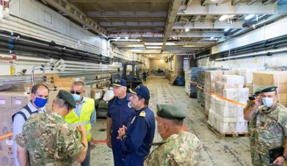 Güney Kıbrıs'tan Lübnan'a 70 ton yardım