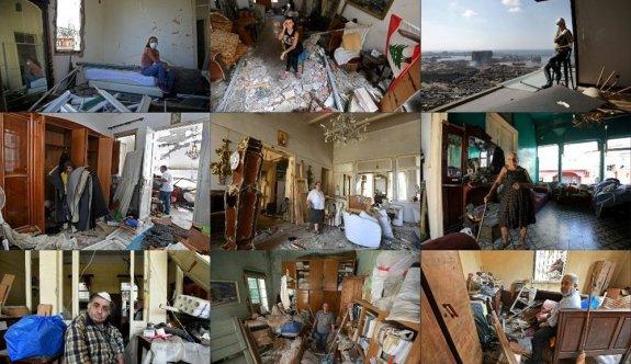 Harabelerin ortasındaki Lübnan halkı