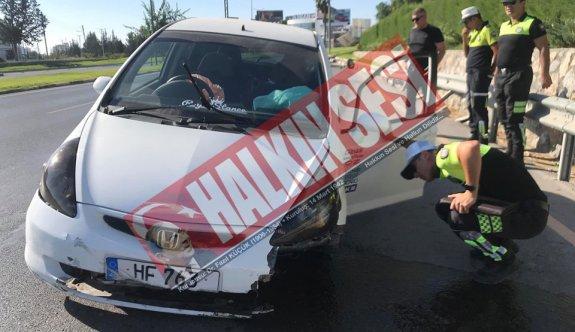 Sürücünün dikkatsizliği pahallıya mal oldu