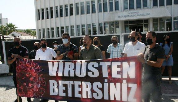 Başbakanlık önünde 'kabaklı' eylem
