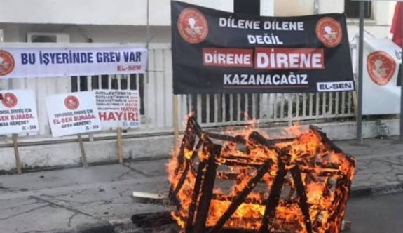 El-Sen grev başlattı