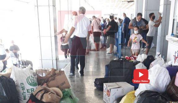 Girne Limanı'nda kaos