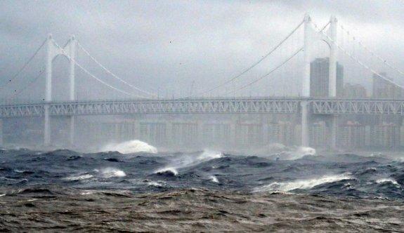 Haişen tayfunu Japonya'nın güneybatısını vurdu