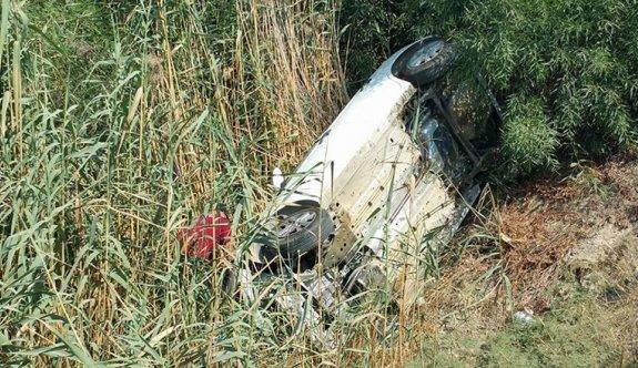 Kaza yapan sürücü 7 saat sonra kurtarıldı