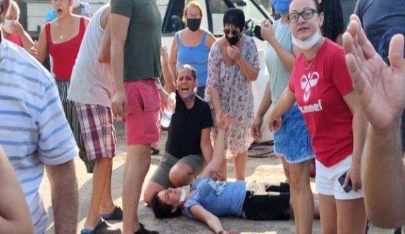 Salamis Kamp Alanı'nda arbede