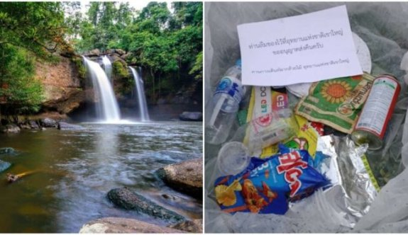 Tayland turistlerin attığı çöpleri sahibine iade ediyor