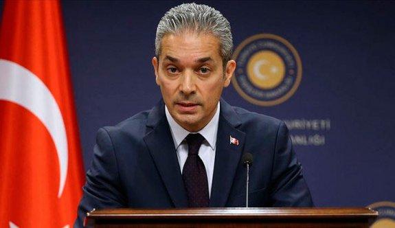 """""""AB'den Türkiye'yi tehdit etmek yerine, çözüm odaklı öneriler sunmasını bekliyoruz"""""""
