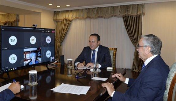 Akıncı ile Gutteres telekonferans yöntemiyle görüştü