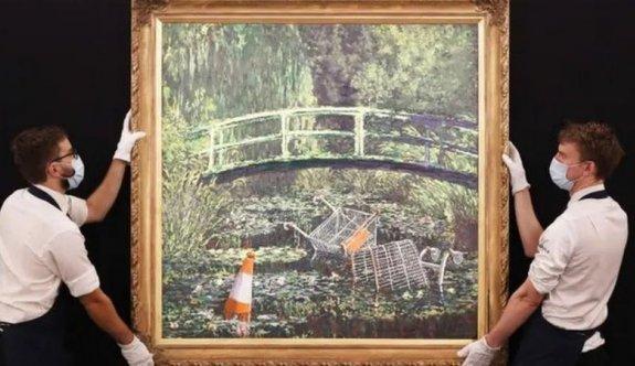 Banksy'nin 'Monet tablosu' açık artırmada 10 milyon dolara satıldı