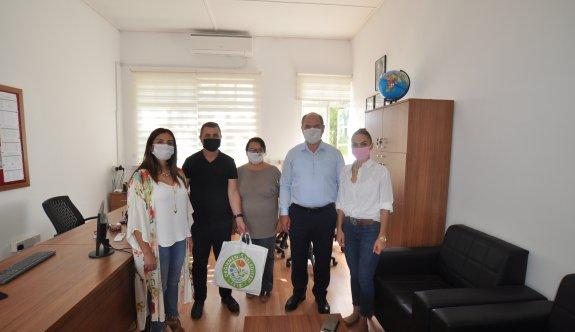 Değirmenlik bölge okullarına maske ve dezenfektan dağıtıldı!