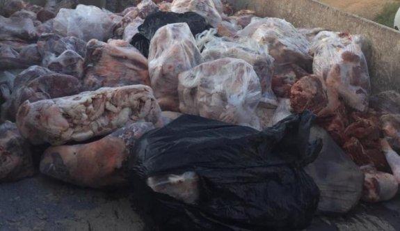 Demirhan'da 1603 kilo kaçak et ele geçirildi