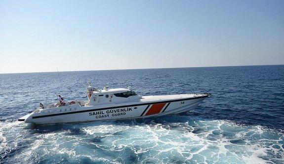 Denizde kaybolan Çavuş'u  Sahil Güvenlik kurtardı
