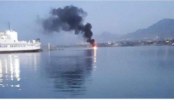 Girne'de teknede patlama