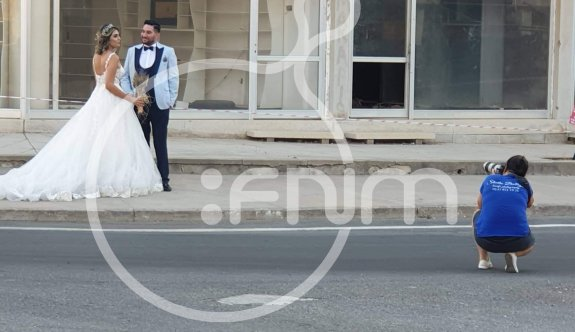 Kapalı Maraş, yeni evlenen çiftler için dış mekan fotoğraflarının çekiminde de ilgi görüyor