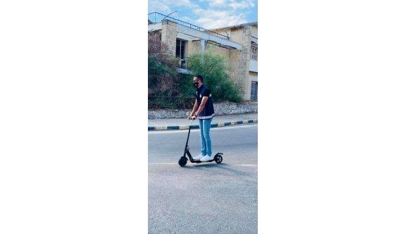 Kapalı Maraş'ta scooterli devriye