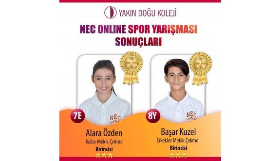 NEC öğrencileri, online yarıştılar