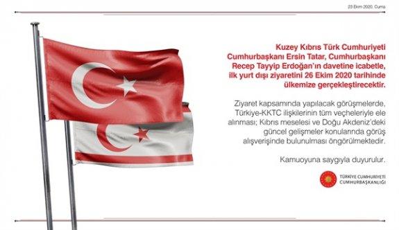 Tatar'ın ilk yurt dışı ziyareti Türkiye'ye