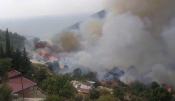 Yangın yerleşim yerlerini tehdit ediyor
