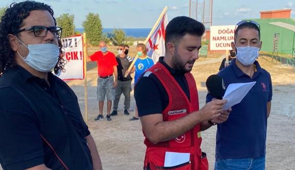 Girneli avcılardan protesto