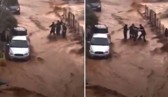 Girit'in Malia bölgesinde sel baskını