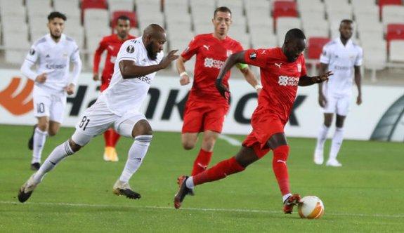 Sivasspor'dan Avrupa Ligi'nde ilk galibiyet