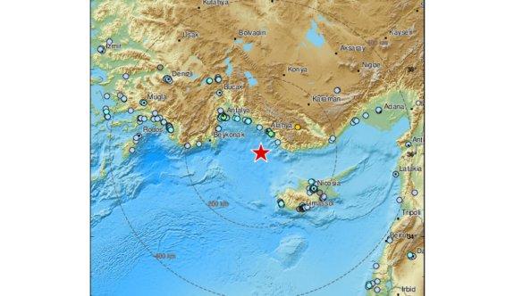 Depremin merkez üssü Antalya