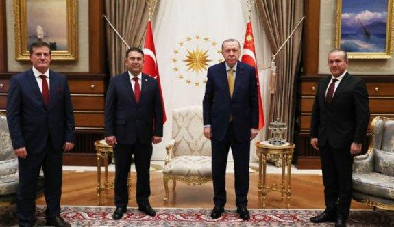 Erdoğan'la 1,5 saat görüşme