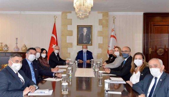 Sarayda Kıbrıs sorunuyla ilgili son gelişmeler konuşuldu