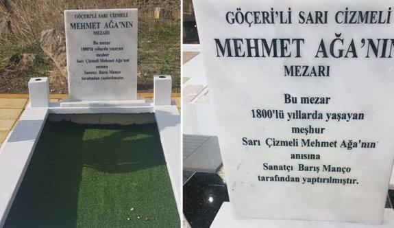 Sarı Çizmeli Mehmet Ağa'nın kabri yenilendi