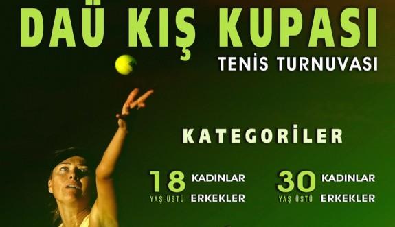 Tenis heyecanı DAÜ'de yaşanacak