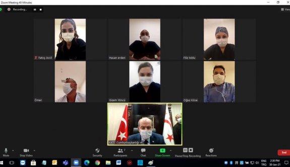 Cumhurbaşkanı Tatar, Lefkoşa Acil Durum Hastanesi hemşirelerine moral verdi