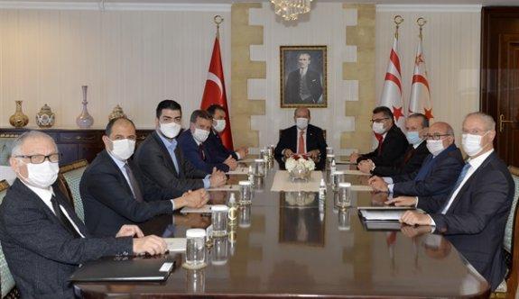 Cumhurbaşkanı Tatar, siyasi parti başkanlarını bilgilendirdi