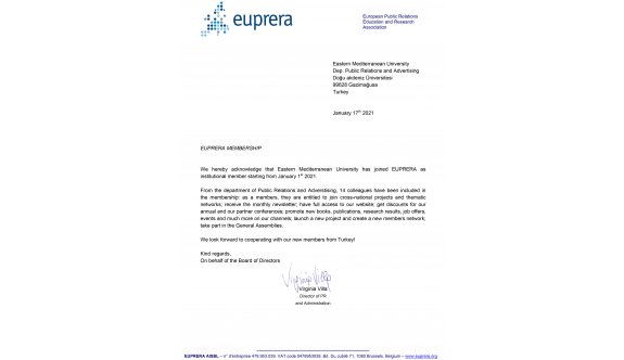 DAÜ İletişim Fakültesi EUPRERA'ya tam üyelik hakkı kazandı