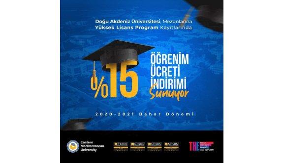 DAÜ mezunlarına yüksek lisans program kayıtlarında %15 indirim imkanı
