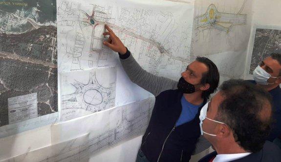 Saner, Girne –Alsancak Yolu 1. Etap projesini yerinde inceledi