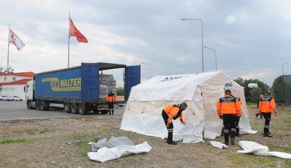 Sivil Savunma Teşkilatı Başkanlığı 120 adet çadırı teslim aldı
