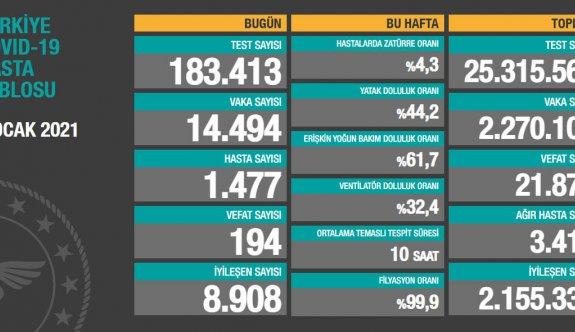 Türkiye'de ağır hasta sayısı ve vaka sayısı azalıyor
