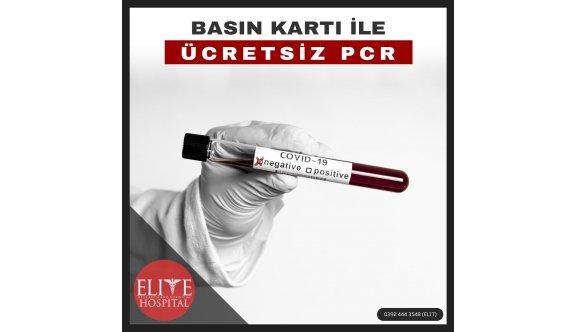 Elite Hastanesi'nde ücretsiz PCR testi