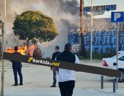 Limasol'da derbi yangını