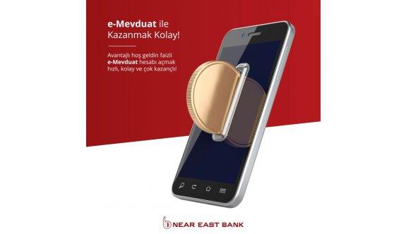 Near East Bank'ın avantajlı e-Mevduat hesabı kazandırıyor