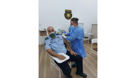 Polis teşkilatında Covit-19'a karşı aşılama çalışmalarına başlandı.
