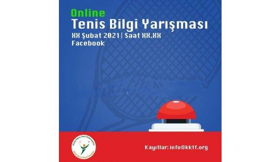 Teniste online bilgi yarışması düzenlenecek