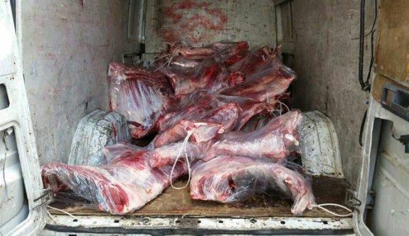 Demirhan'da yarım ton kaçak et ele geçirildi