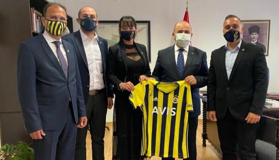 FBİDER, Başçeri'yeFenerbahçe forması hediye etti