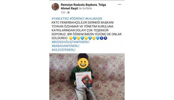 Fenerbahçeliler Derneğinden tablet bağışı