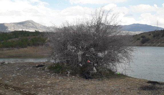 Hamitköy Barajı çöplüğe döndü