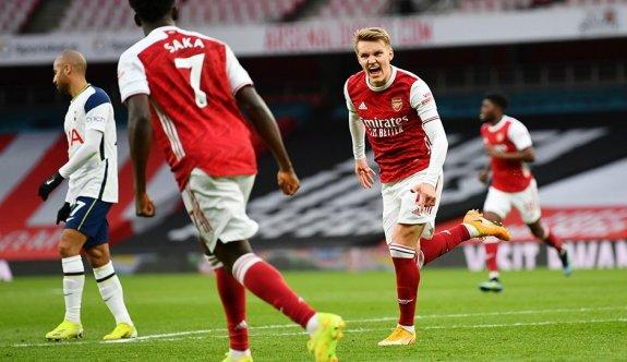 Kuzey Londra derbisinde gülen Arsenal oldu